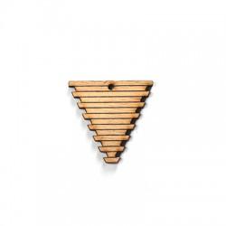 Ciondolo di Legno Triangolo 36x35mm