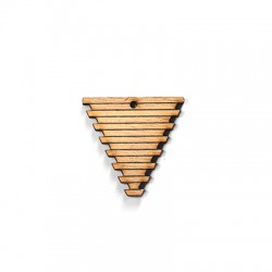 Wooden Pendant Triangle 36x35mm
