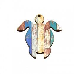 Ciondolo di Legno Tartaruga Marina dipinta 55x60mm