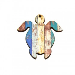 Wooden Pendant Turtle 55x60mm