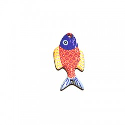 Wooden Pendant Painted Fish 23x46mm