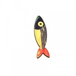 Ciondolo in Legno Pesce dipinto 17x65mm