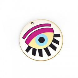 Ξύλινο Μοτίφ Στρογγυλό Μάτι 50mm