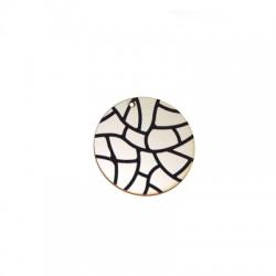 Ciondolo in Legno Rotondo Striato dipinto 40mm