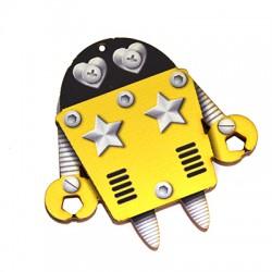 Ξύλινο Μοτίφ Ρομπότ 60x59mm