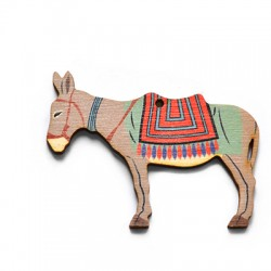 Wooden Pendant Donkey 70x54mm