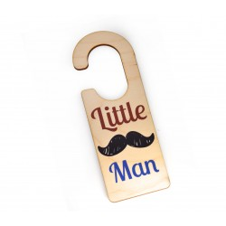"""Ξύλινο Στοιχείο Διακοσμητικό Πόρτας """"Little Man"""" 55x159mm"""