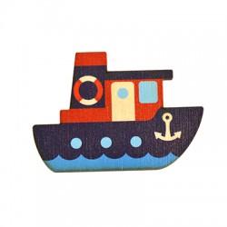 Wooden Magnet Boat 70x49mm