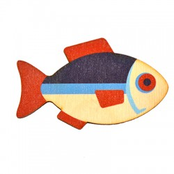 Ξύλινος Μαγνήτης Ψάρι 70x44mm