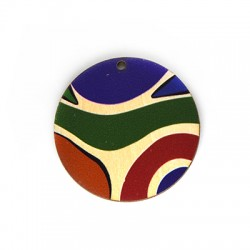 Wooden Pendant Round 46mm