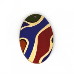 Wooden Pendant Oval 37x55mm