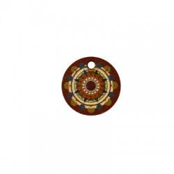 Charm di Legno Tondo 18mm con Disegni dipinti