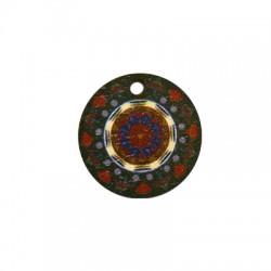 Charm di Legno Tondo 21mm con Disegni dipinti