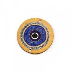 Ξύλινο Μοτίφ Στρογγυλό Μάτι 40mm