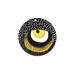 Ξύλινο Μοτίφ Στρογγυλό Μάτι Βούλες 50mm