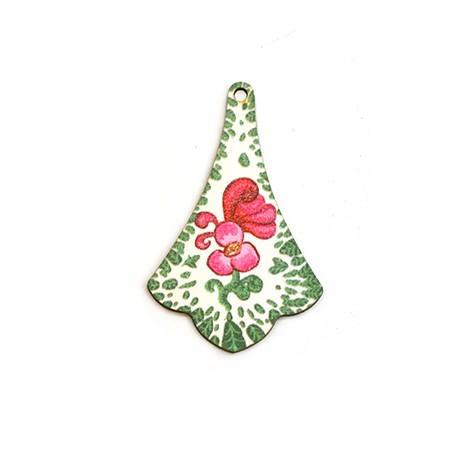 Ξύλινο Μοτίφ Ακανόνιστο Λουλούδια 35x55mm