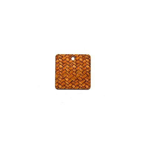 Ξύλινο Στοιχείο Τετράγωνο για Μακραμέ 20mm
