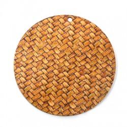 Ξύλινο Μοτίφ Στρογγυλό 60mm