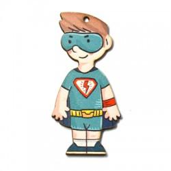 Ξύλινο Μοτίφ Super Αγόρι 33x70mm