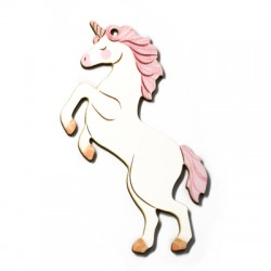 Wooden Pendant Unicorn 58x81mm