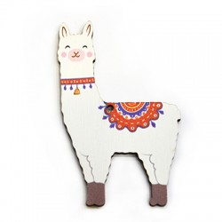 Wooden Pendant Lama 51x85mm