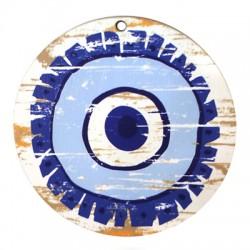 Ξύλινο Μοτίφ Στρογγυλό Μάτι 70mm
