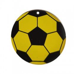 Ciondolo di Legno Pallone da Calcio 50mm