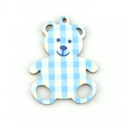 Wooden Pendant Bear 45x59mm
