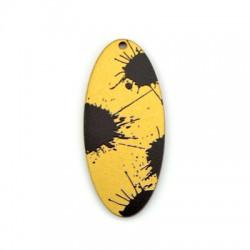 Ciondolo di Legno Ovale 26x60mm