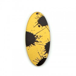 Wooden Pendant Oval 26x60mm
