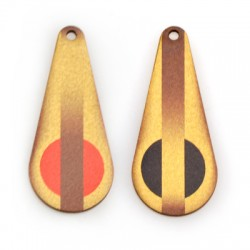 Wooden Pendant Drop 22x50mm