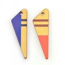 Wooden Pendant Irregular Triangle 15x49mm