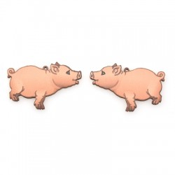 Wooden Pendant Pig Set (Suitable for Earrings) 58x38mm  (NOT FOR SALE IN PORTUGAL)