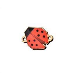 Wooden Connector Ladybug 20x16mm