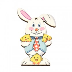 Wooden Pendant Bunny 58x77mm