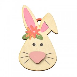 Wooden Pendant Bunny 51x90mm