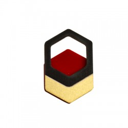 Wooden and Plexi Acrylic Pendant Geometrical 29x45mm