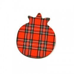 Wooden Lucky Pendant Pomegranate 61x74mm