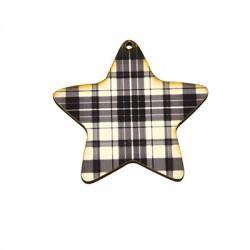 Wooden Lucky Pendant Star 65mm
