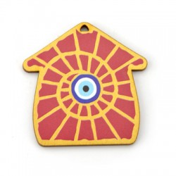 Wooden Pendant House w/ Eye 55mm