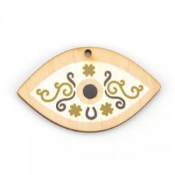 Wooden Pendant Eye 60x36mm