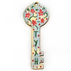 "Wooden Pendant Key ""ΤΥΧΗ"" 30x8mm"