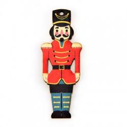 Wooden Pendant Nutcracker Soldier 26x70mm
