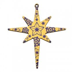 Wooden Pendant Star 83x94mm