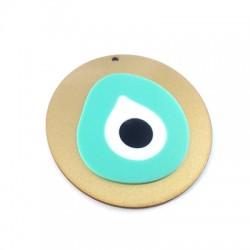 Wooden and Plexi Acrylic Pendant Eye 79x75mm