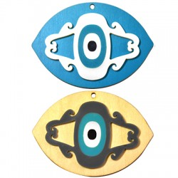 Ξυλινο με Πλέξι Ακρυλικό Μοτίφ Μάτι 50x70mm