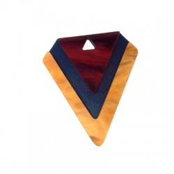 Wooden and Plexi Acrylic Pendant Diamond 45x50mm