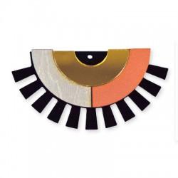 Wooden and Plexi Acrylic Pendant 71x37mm