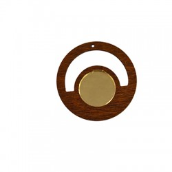 Wooden and Plexi Acrylic Pendant 55mm