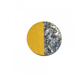 Ξύλινο με Πλέξι Ακρυλικό Μοτίφ Στρογγυλό 50mm